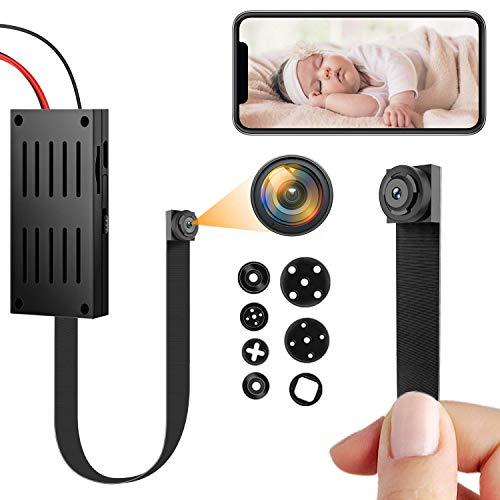 Mini Telecamera Spia Wifi, 4K/1080P HD Telecamera Nascosta Portatile DIY Microcamera Spia Wireless con Rilevamento di Movimento Piccole Telecamere di Sorveglianza per Interni/Esterni