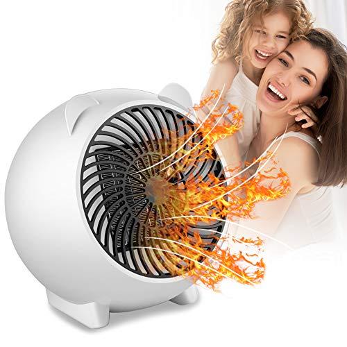 Mini Termoventilatore, Stufetta Elettrica, termoventilatore basso consumo, Stufa elettrica portatile Riscaldamento Rapido, Perfetto Per Bagno, Stanza, Ufficio