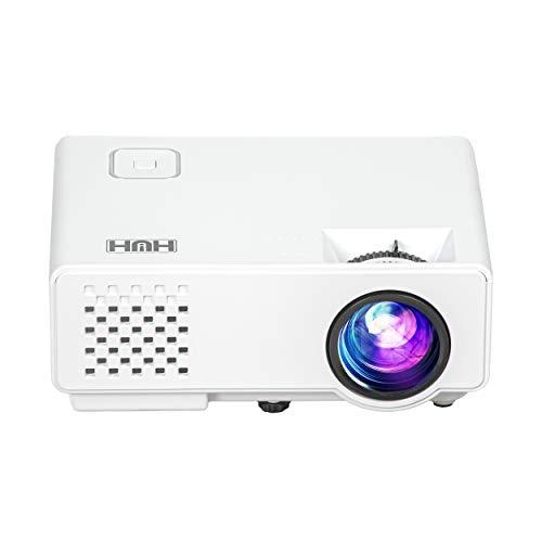 """Mini videoproiettore portatile 1000 Lumen Reali Full HD 1080P Compatibilità iOs e Android Display da 120"""" Proiettore Cinematografico con 50,000 ore Cavo hdmi"""