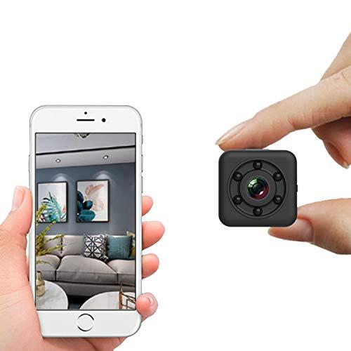 Mini Wifi Telecamera Spia Telecamera nascosta wireless WiFi Sicurezza domestica Nanny Cam Videoregistratore interno/esterno Visione notturna 30m Impermeabile per iPhone/Android