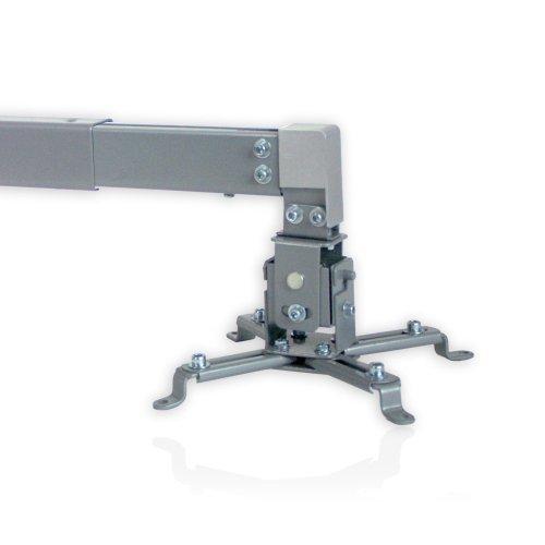 Minify - Supporto da parete e da soffitto per proiettori Beamer, estraibile, colore: Argento
