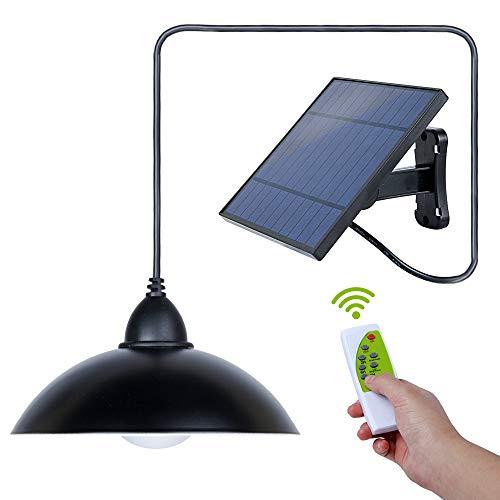 Miovatty Solar Lampada da Soffitto Solar Hanging Lamp 3 Modalità IP65 Impermeabile LED Solar Lampada a Sospensione Lampada a Sospensione con Telecomando per Esterno