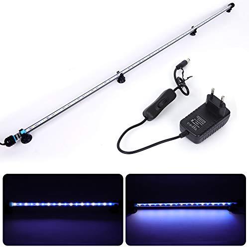 MLJ LED Aquarium Lighting Luce di Pesce Drago Illuminazione per Acquario Impermeabile (Deutschland Lagerhaus) (112cm, Bianco e Blu)