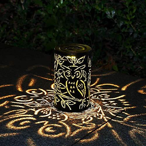 MMTX LED Lanterna Solare, Lampada da Giardino Luce Bianco Caldo Luce Esterno Decorative per Patio Fuori Cortile Passerella Feste Natale, Vintage Metallo Impermeabile IP44