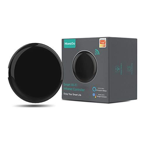 MoesGo hub di controllo WiFi e IR per elettrodomestici, con comando vocale e app Smart Life/Tuya, compatibile con Amazon Echo e Google Home