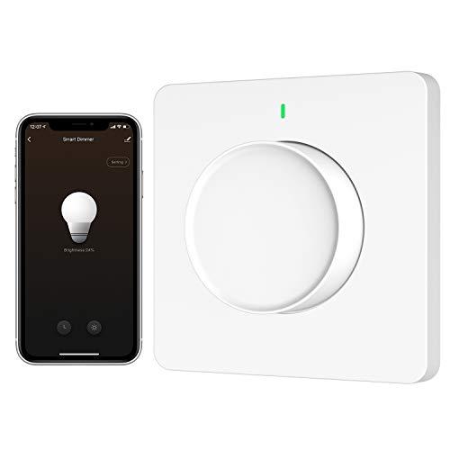 MoKo Alexa Dimmer per Luce WiFi, Interruttore Smart Dimmerabile, Compatibile con Alexa e Google Home, Regolatore Smart per Illuminazione con Timer, App Controllato da SmartLife, Richiede Filo Neutro