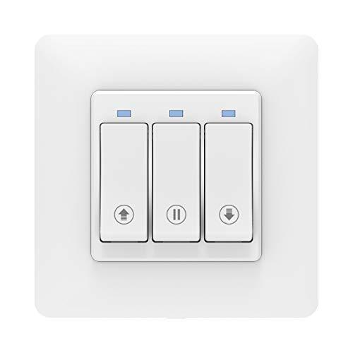 MoKo Interruttore WiFi per Motore Tende Tapparelle Elettriche, Interruttore Smart per Avvolgibili Tapparelle Compatibile con SmartThings, Alexa Echo Google Home, Controllo remoto Smart, Funzione timer