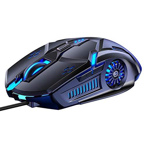 Mouse Gaming, Mouse silenzioso cablato RGB multicolore 3200 DPI Accessori per computer, Per giochi da ufficio in casa 6 pulsanti Funzioni multiple (nero)