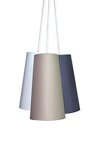 Moycor 96705015 - Lampada da soffitto in tessuto tricolore, 22x22x40
