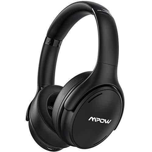 Mpow H19 IPO Cuffie Bluetooth 5.0, 35 ore di Batteria della Cuffie Active Noise Cancelling con Carica Rapida, Microfono CVC8.0 Cuffie Cancellazione Attiva Rumore, Cuffie Over Ear per TV,Cellullari,PC