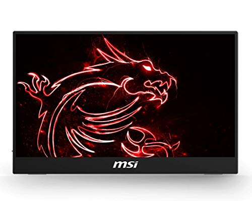 """MSI Optix MAG161V Monitor Portatile 16"""", Display 16:9 Full HD (1920x1080), Frequenza 60Hz, Type C, Pannello IPS, Ultrasottile, Peso 900 gr (importazione Italiana, 3 anni di garanzia)"""