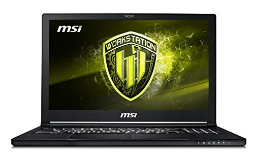 MSI WS63 8SK(Vpro)-005IT Notebook con Processore i7-8850H e Scheda Grafica Nvidia QUADRO P3200 da 6 GB GDDR5, 16 GB RAM DDR IV [Layout Italiano]