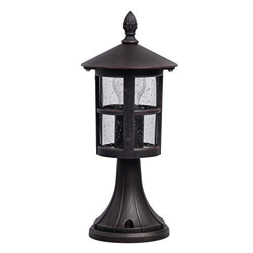 MW-Light 806040901 Lampada da Terra per Esterno Giardino in Metallo Nero 1 x 60W E27