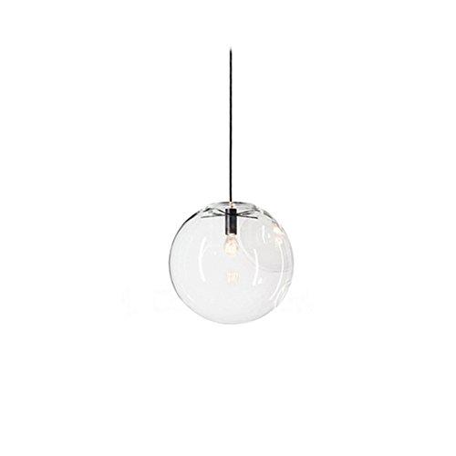 mzstech - Classico a forma di palla di vetro appeso brillante creativo singolo helles principale lampade in vetro della tinta Retro (20cm)