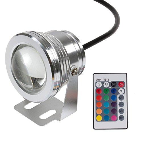 NA Luce subacquea a LED IP65 10W RGB Telecomando Colorato a LED Fontana subacquea Luce Spotlight Lampada a LED DC 12V per laghetto da pesca acquario