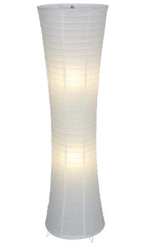 """Naeve Leuchten 2003623 - Lampada piantana""""Himalya"""", lampadina non inclusa, altezza: 123 cm, diametro: 30 cm, base in metallo, rivestimento in carta, colore: Bianco"""