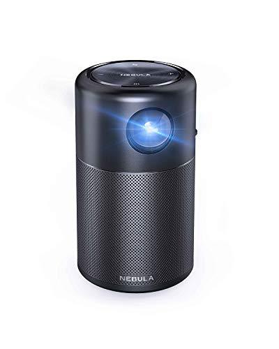 """NEBULA Anker Capsule, Mini-proiettore Portatile Wi-Fi Intelligente, 100 ANSI Lumen, Altoparlante 360°, proiettore cinematografico, Immagine da 100"""", 4 Ore di Video, intrattenimento Domestico"""