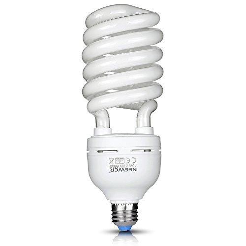 Neewer 45W 220V 5500K tri-fosforo spirale bulbo fluorescente compatto CFL luce naturale equilibrata lampadina con montatura E27per illuminazione effetto studio fotografia e video
