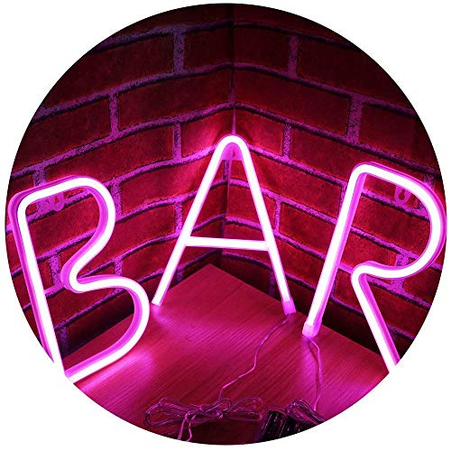 Neon Bar Light Sign LED Neon Lettera Luce di notte Marquee Word Sign Wall Decor per Beer Bar Pub ricreativa per feste
