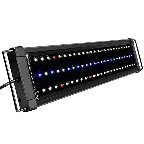NICREW ClassicLED Plus Ho Lampada Acquario, Plafoniera LED Acquario a Spettro Completo, Luce Acquario Piante Impermeabile, 53-75 cm, 24W 1030LM