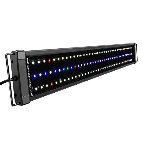 NICREW ClassicLED Plus Ho Luce Acquario, Plafoniera LED Acquario a Spettro Completo, Illuminazione Piante Impermeabile, 75-100 cm, 34W 1265LM