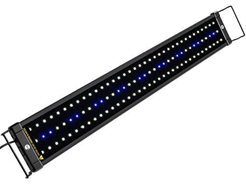 NICREW Illuminazione per Acquario, Plafoniera LED Acquario Dolce, Lampada LED per Acquario Luce Acquario 75-105 cm, 18W, 7000K, 920LM