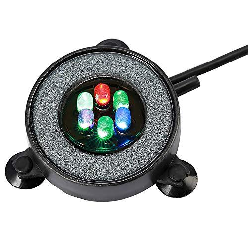 NICREW Lampada Acquario a Bolle, LED Acquario Sommergibile Che Cambia Il Colore Automatico, Decorazioni Acquario con 6 luci Colorati con Bolla d'Aria (5,5 cm, 1,2 W)