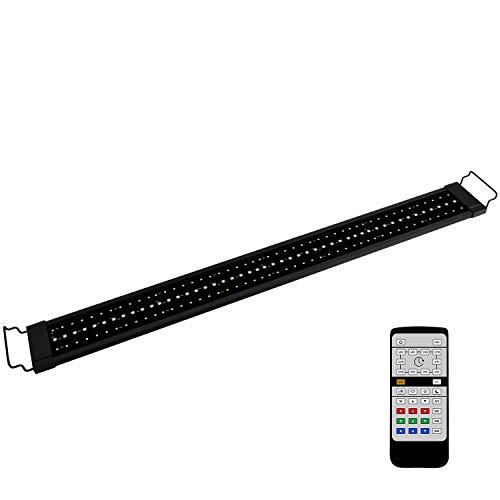 NICREW RGB Plus Lampada Acquario, 24/7 LED Acquario Spettro Completo, Plafoniera LED Acquario con Telecomando, Luce Acquario per Piante 99-137 cm, 26W 1190LM