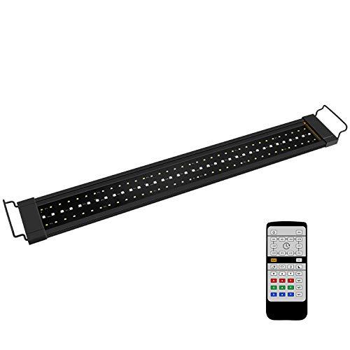 NICREW RGB Plus Lampada Acquario, 24/7 LED Acquario Spettro Completo, Plafoniera LED Acquario con Telecomando, Luce Acquario per Piante 77-110 cm, 22W 1130LM