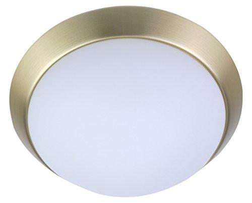 Niermann Standby a + +, lampada da soffitto parete–Anello in Ottone opaco, LED, Opale opaco, 35 x 35 x 12 cm