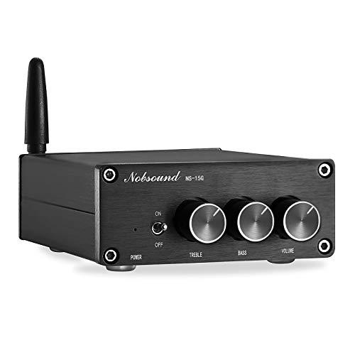 Nobsound, mini amplificatore da 200 W (100 W × 2) Bluetooth 4.2 TPA3116, amplificatore digitale HiFi Stereo Class D, con alimentazione