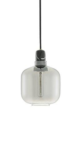 Normann Copenhagen Amp - Lampada a sospensione, misura piccola, altezza 17 cm, colore: Nero fumo