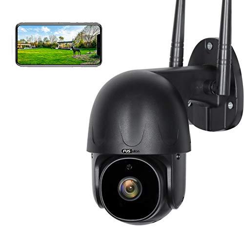 【NUOVA fotocamera 1080P】Telecamera di Sorveglianza WiFi FUSWLAN, 1080p Telecamera di Sorveglianza Esterna con AI Rilevazione di Movimento, Audio Bidirezionale, 20m Visione Notturna, IP65 Impermeabile