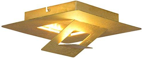 Näve Leuchten - Plafoniera a LED Goldleaf, in metallo, oro, 24 x 24 x 10 cm