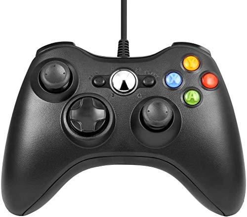 OCDAY Controller Xbox 360 Joystick Wired Gamepad Controller PC di Design Ergonomico Migliorato Nero