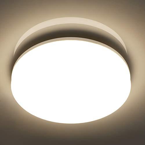 Oeegoo 18W LED Plafoniera Lampada da soffitto LED Tondo IP44 impermeabile Illuminazione Plafoniere 1550LM- Equivalente 100W tradizionale lampadina per Soggiorno corridoio bagno Officina