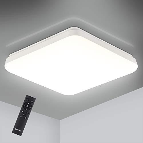 Oeegoo 24W Leuchten Plafoniera a LED da soffitto Dimmerabile, 2400lm IP54 Impermeabile Plafoniera LED Regolazione della Temperatura di Colore con Telecomando