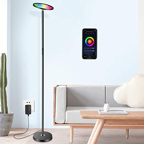 Oeegoo Piantana LED 25 W, Smart lampada a stelo dimmerabile, Wifi lampada a stelo Alexa Google Home compatibile, Touch Control lampada da terra per soggiorno, ufficio