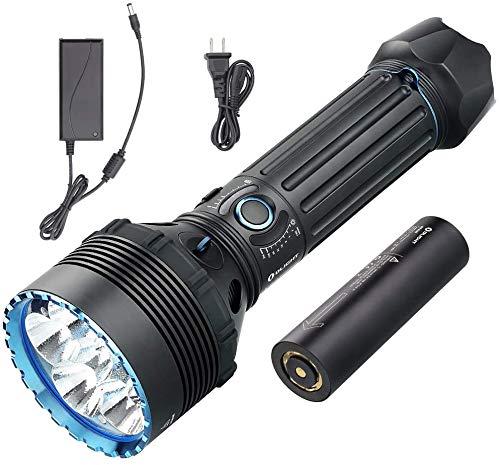 Olight X9R Marauder 25000 Lumen Torcia LED Ultra Luminosa, Torcia Elettrica Alta Potenza, 8 modi Regolabili Indicatore di Potenza Controllo Intelligente, Design Ergonomico Per Esterno, Autodifesa