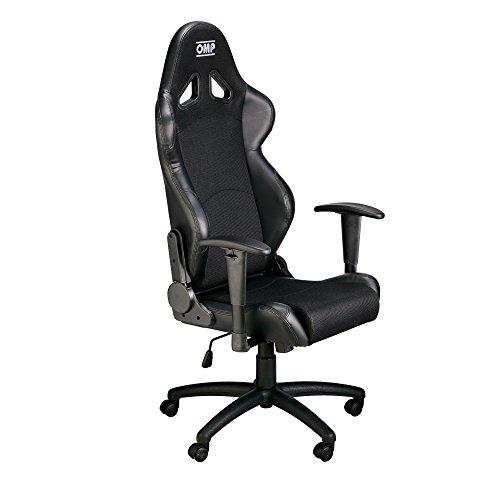 OMP OMPHA/777E/AIR Sedia con Airnet in tessuto, colore: nero