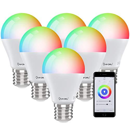 Onforu 3 Pezzi E27 Lampadina Smart, 7W Lampadine Intelligente Alexa RGBW, RGB Lampadina Wifi Controllo con Alexa/Google Home, 3 modalità Lampada multicolore, Bianco caldo, bianco freddo