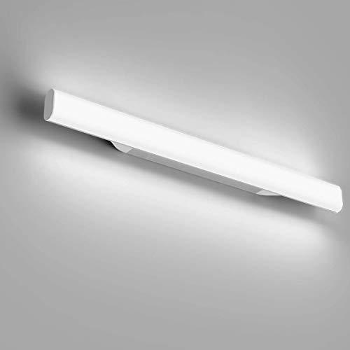 OOWOLF 12W 1200lm 44cm LED lampada da specchio, per trucco, Bianco 6000 K, Lampada Bagno Specchio, Applique Bagno Lampada Bagno Specchio 85V~260V