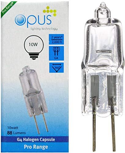 Opus - Lampadine alogene G4, 12 V, 10 W, 10 pezzi
