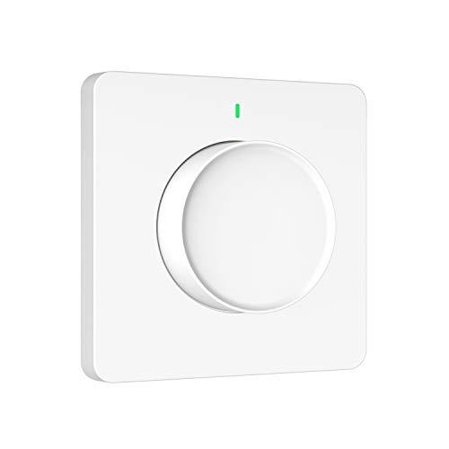 Orbecco Interruttore Intelligente Dimmer per Luce LED, 2.4 GHz WiFi Smart Interruttore Dimmiabile, APP Controllo Remoto da Alexa, Google Assistant, Siri Shortcuts & Smartlife, Funzione Timer, Bianco