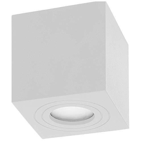 ORNO Megy Plafoniere per Bagno Piazza Impermeabile GU10 IP54 50W Max (Lampadina acquistata separatamente) (Bianco)