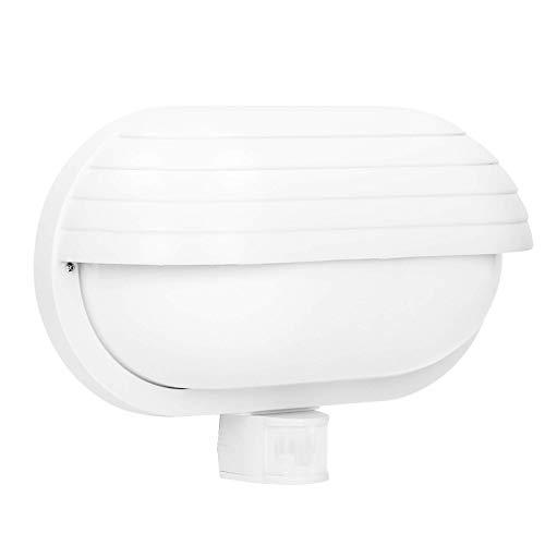 Orno Samum E27 Plafoniera Esterno Con sensore fino a 60W IP44 impermeabile (lampadina venduta separatamente) (Bianco)