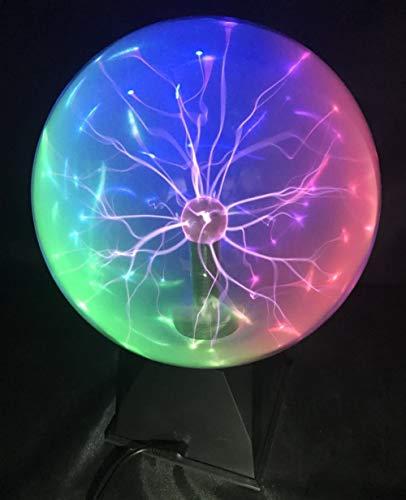 Osairous Sfera al plasma Sfera magica 2 in 1 Attivata dal contatto e dalla voce Diametro 15 cm 3 Luci colorate