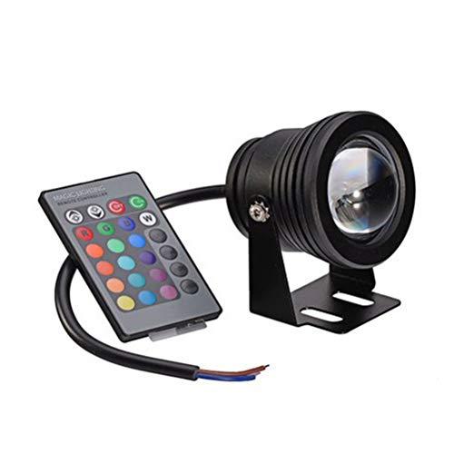 OSALADI Fontana da piscina lampada LED controllo remoto luce subacquea cambio colore luci di laghetto acquario (Shell RGB) 10 W