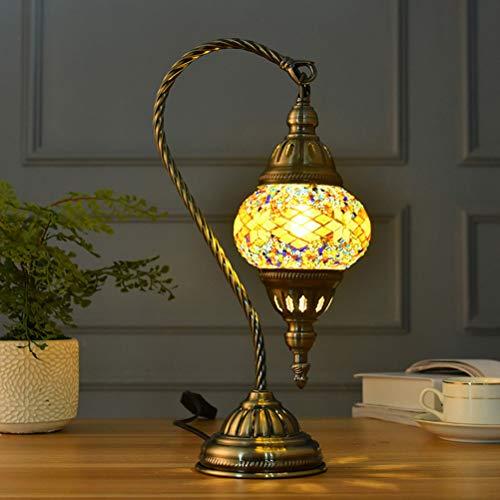 OSALADI Lampada da tavolo marocchina, lampade da tavolo in vetro vintage, lampada da scrivania marocchina per la decorazione domestica