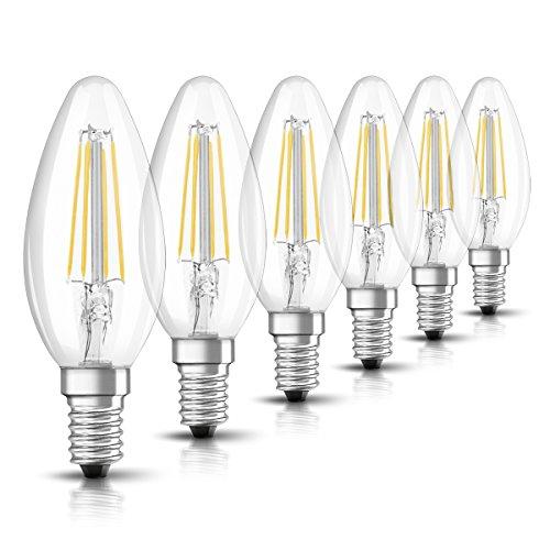 Osram Lampadine LED tutto vetro a filamento, forma a candela, E14, =40 W, luce calda, non dimmerabile